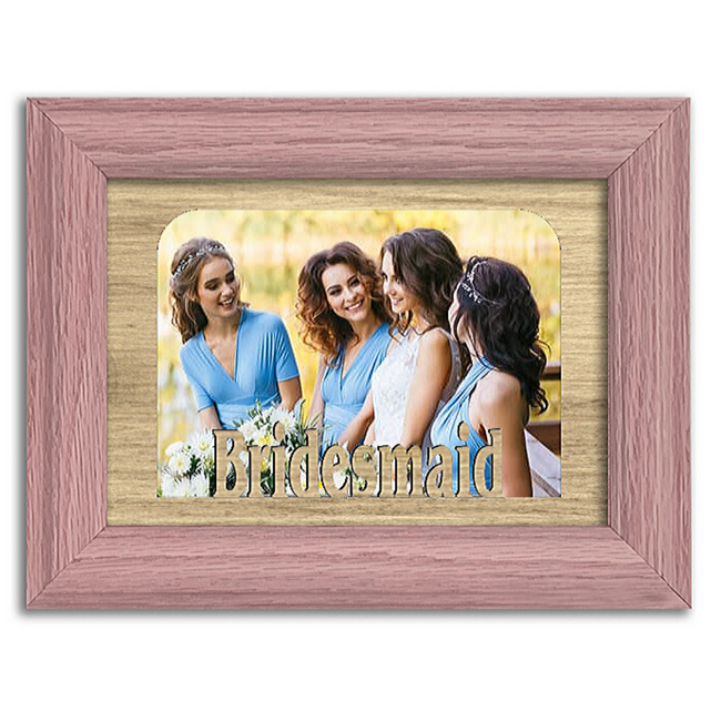 Bridesmaid Tabletop Picture Frame - Holds 4x6 Photo - Multiple Color Options