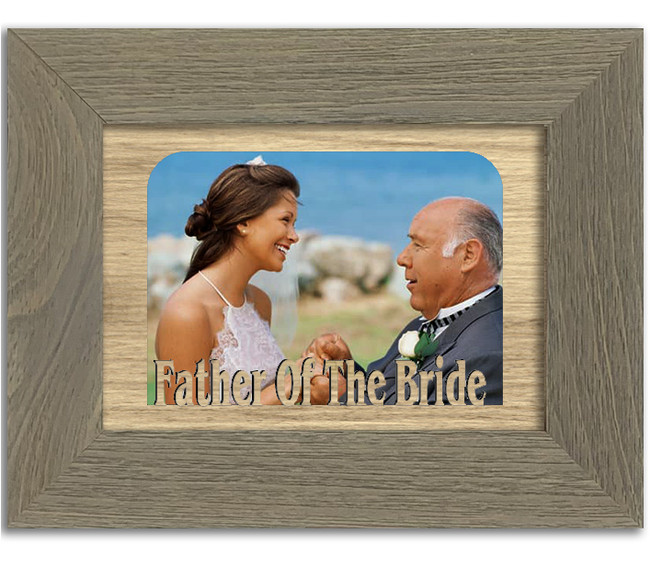 Father of the Bride Tabletop Picture Frame - Holds 4x6 Photo - Multiple Color Options