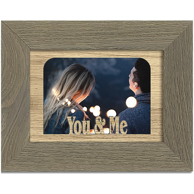 You & Me Tabletop Picture Frame - Holds 4x6 Photo - Multiple Color Options