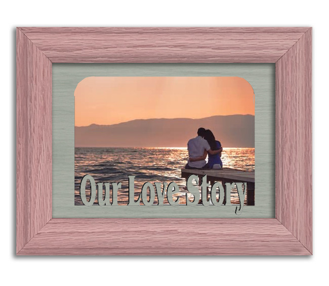 Our Love Story Tabletop Picture Frame - Holds 4x6 Photo - Multiple Color Options