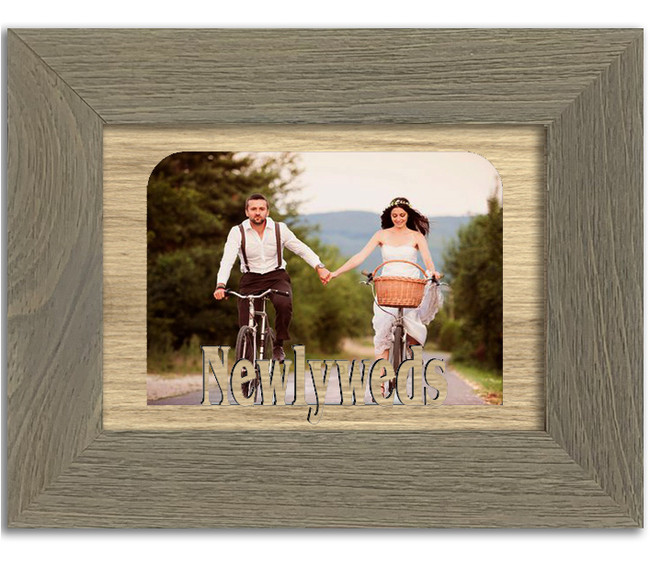 Newlyweds Tabletop Picture Frame - Holds 4x6 Photo - Multiple Color Options