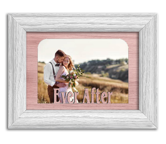 Ever After Tabletop Picture Frame - Holds 4x6 Photo - Multiple Color Options