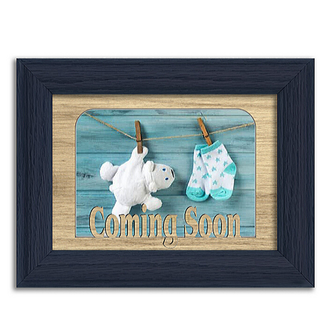 Coming Soon Tabletop Picture Frame - Holds 4x6 Photo - Multiple Color Options