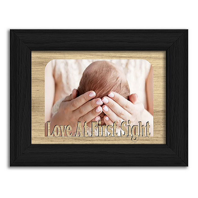 Love At First Sight Tabletop Picture Frame - Holds 4x6 Photo - Multiple Color Options