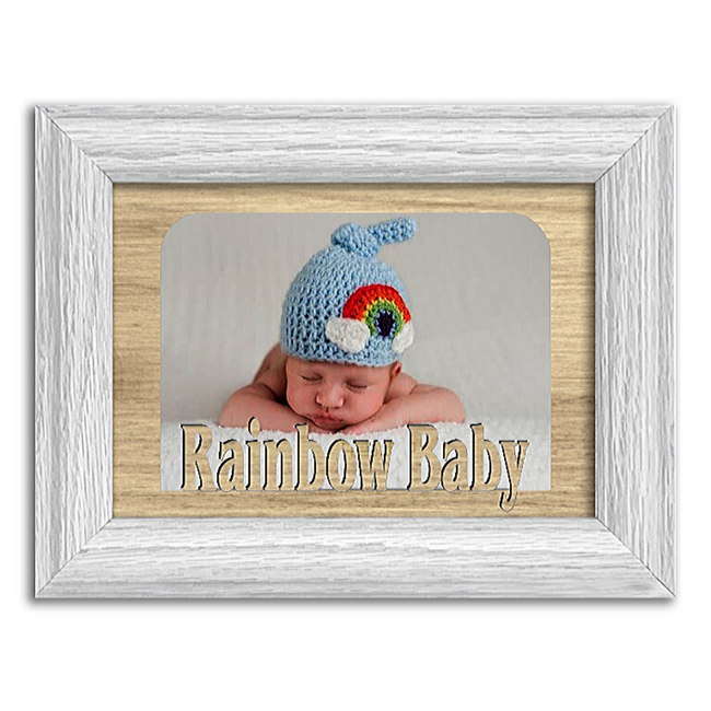 Rainbow Baby Tabletop Picture Frame - Holds 4x6 Photo - Multiple Color Options