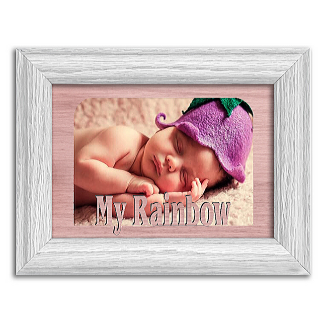My Rainbow Tabletop Picture Frame - Holds 4x6 Photo - Multiple Color Options