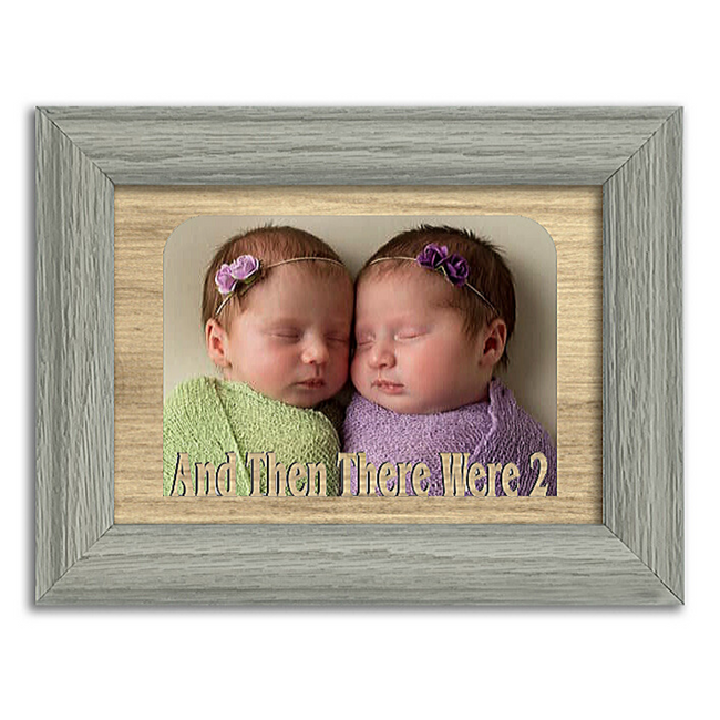And Then There Were 2 Tabletop Picture Frame - Holds 4x6 Photo - Multiple Color Options