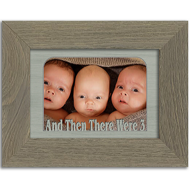 And Then There Were 3 Tabletop Picture Frame - Holds 4x6 Photo - Multiple Color Options