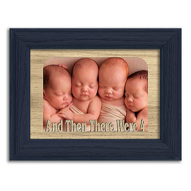 And Then There Were 4 Tabletop Picture Frame - Holds 4x6 Photo - Multiple Color Options