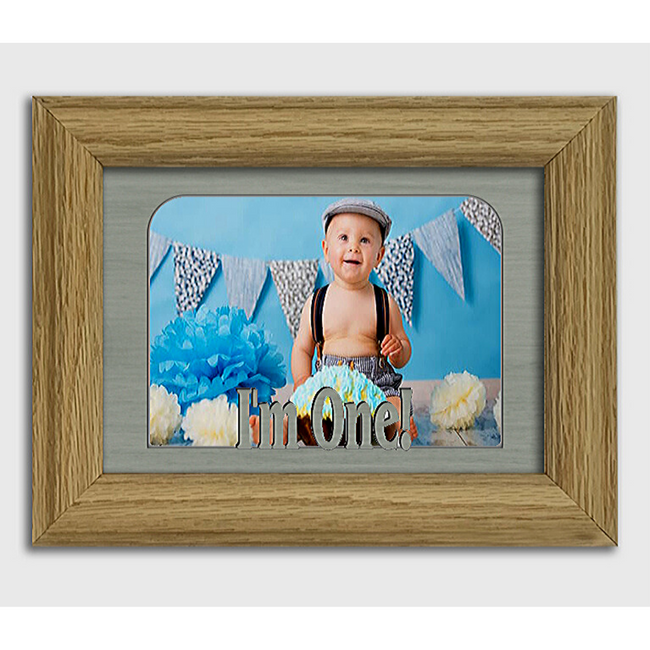 I'm One! Tabletop Picture Frame - Holds 4x6 Photo - Multiple Color Options