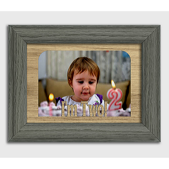 I'm Two! Tabletop Picture Frame - Holds 4x6 Photo - Multiple Color Options