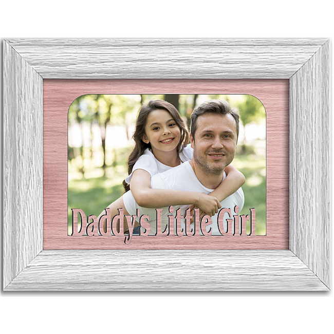 Daddy's Little Girl Tabletop Picture Frame - Holds 4x6 Photo - Multiple Color Options