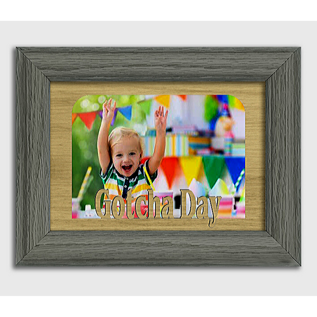 Gotcha Day Tabletop Picture Frame - Holds 4x6 Photo - Multiple Color Options