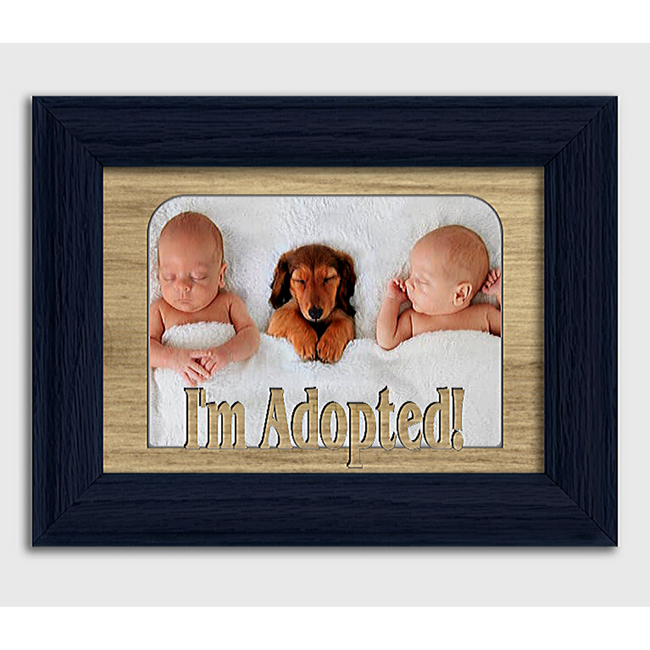 I'm Adopted! Tabletop Picture Frame - Holds 4x6 Photo - Multiple Color Options