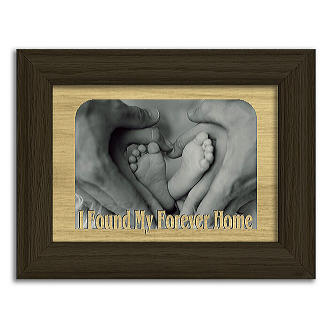 I Found My Forever Home Tabletop Picture Frame - Holds 4x6 Photo - Multiple Color Options
