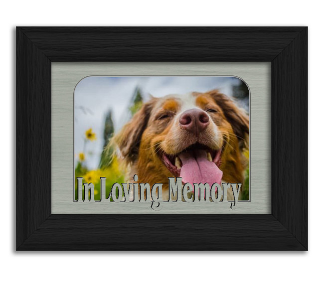 In Loving Memory Tabletop Picture Frame - Holds 4x6 Photo - Multiple Color Options