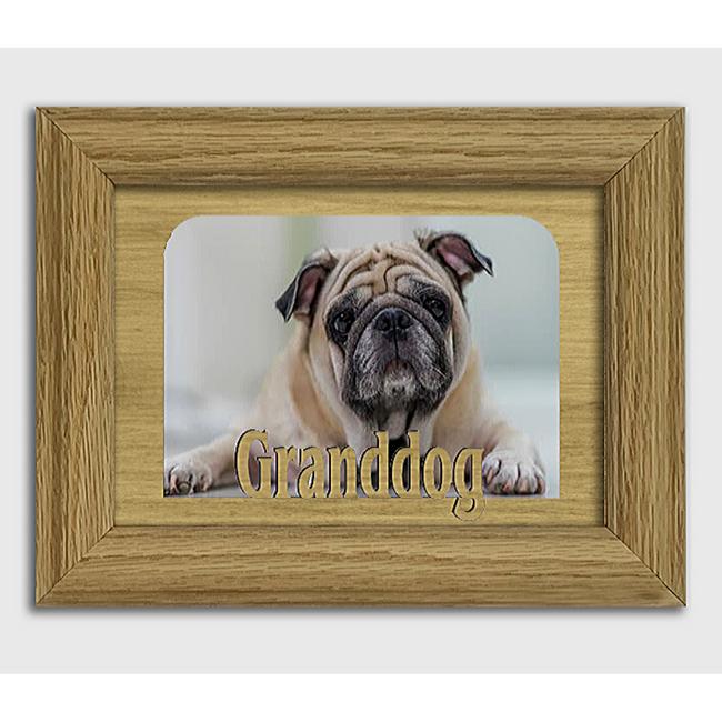 Granddog - Pet Animal Frame - Tabletop Picture Frame - Holds 4x6 Photo - Multiple Color Options