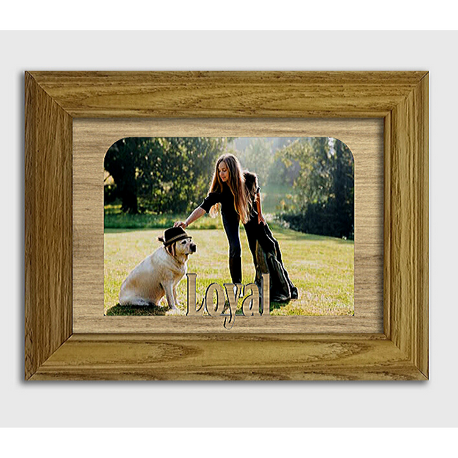 Loyal Tabletop Picture Frame - Holds 4x6 Photo - Multiple Color Options