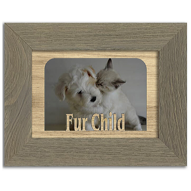 Fur Child Tabletop Picture Frame - Holds 4x6 Photo - Multiple Color Options