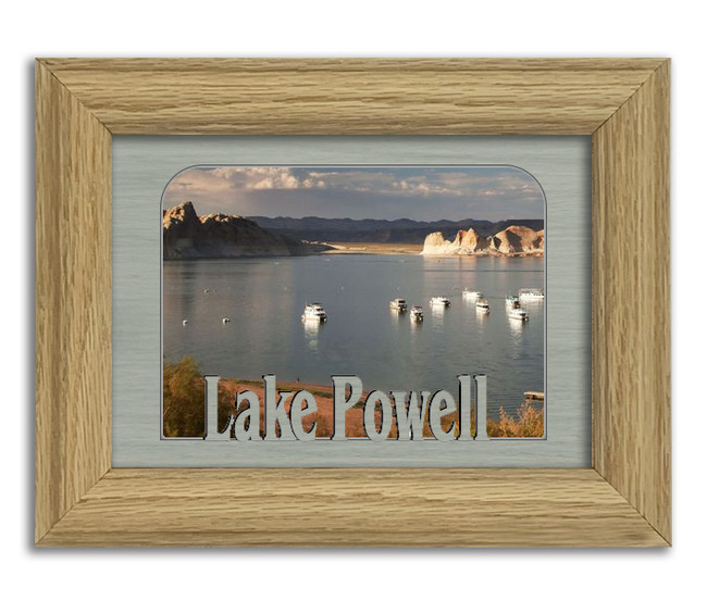 Lake Powell Personalized Custom Lake Name Picture Frame 5x7