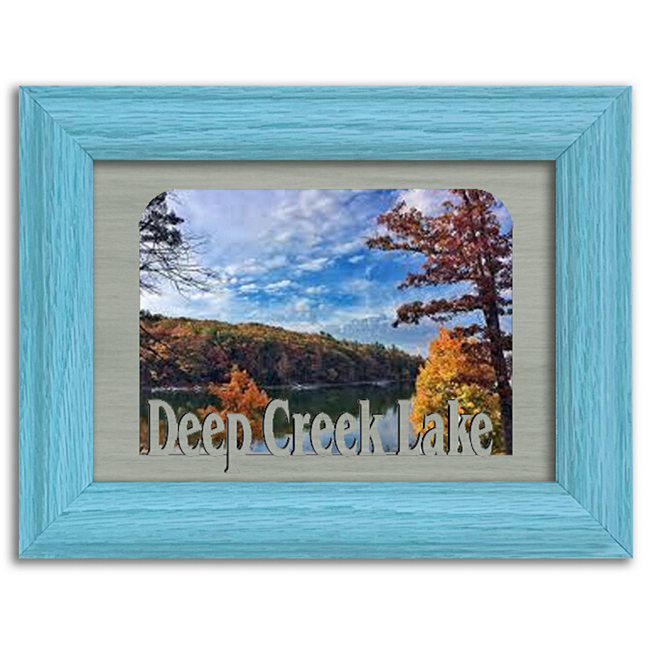 Maryland Deep Creek Lake  Personalized Custom Lake Name Picture Frame 5x7