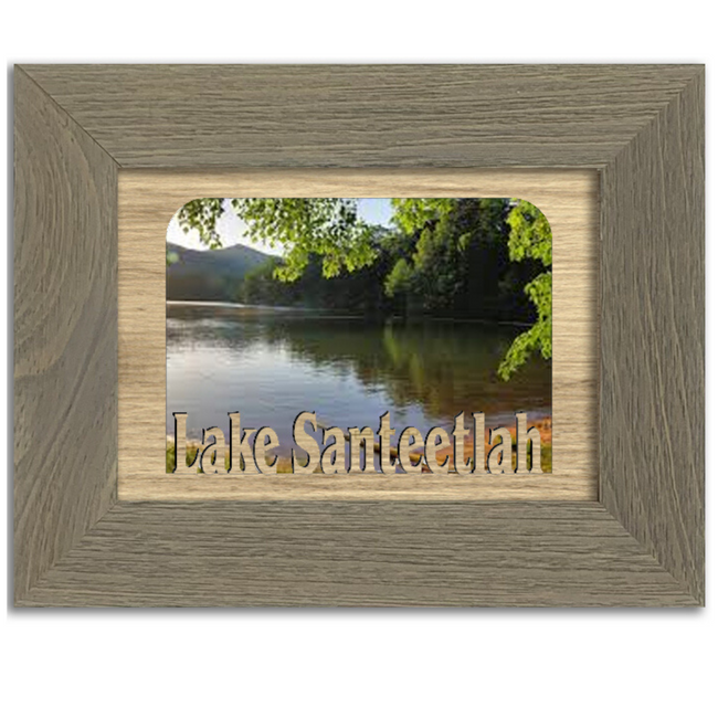 North Carolina Lake Santeetlahe Personalized Custom Lake Name Picture Frame 5x7