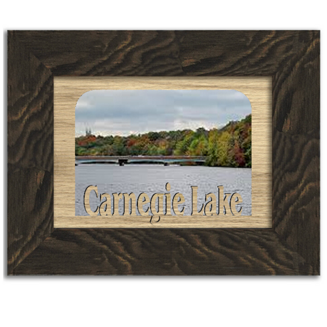 New Jersey Carnegie Lake Personalized Custom Lake Name Picture Frame 5x7