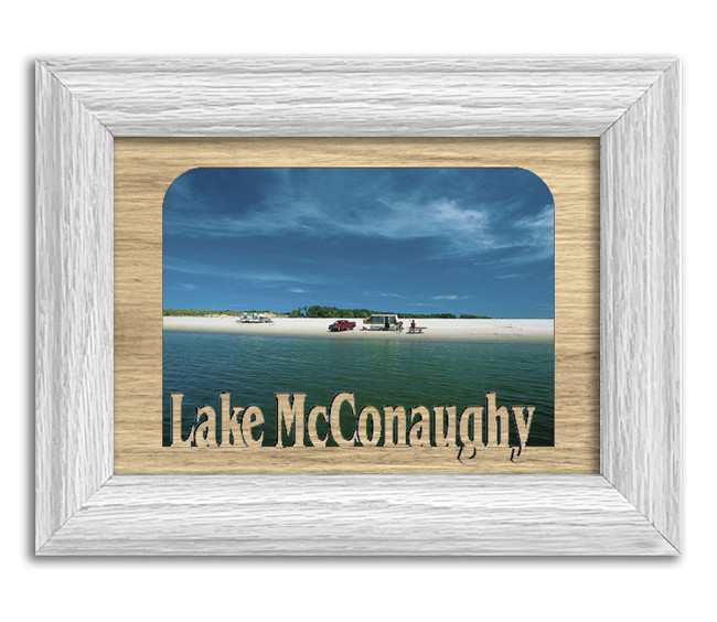 Nebraska Lake McConaughy Personalized Custom Lake Name Picture Frame 5x7