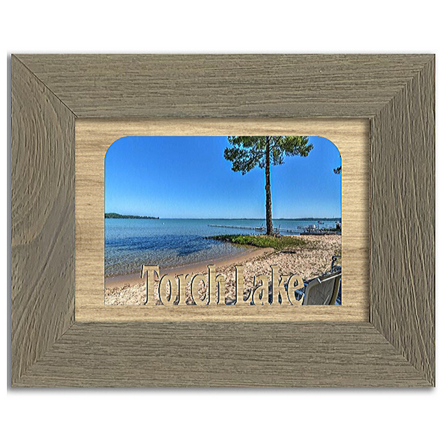Michigan Torch Lake Personalized Custom Lake Name Picture Frame 5x7