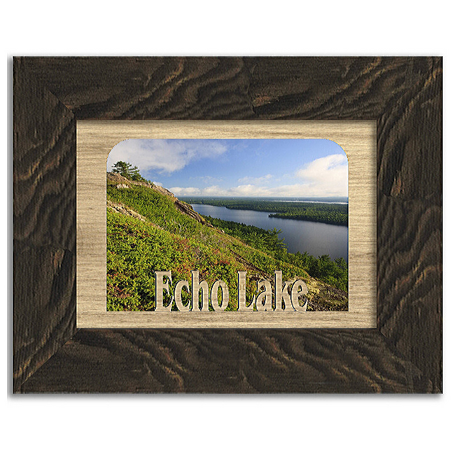 Maine Echo Lake Personalized Custom Lake Name Picture Frame 5x7