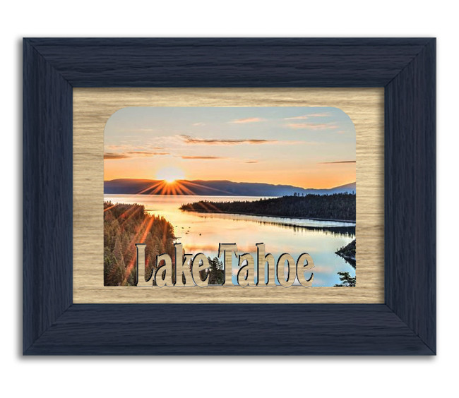 California Lake Tahoe Lake Personalized Custom Lake Name Picture Frame 5x7