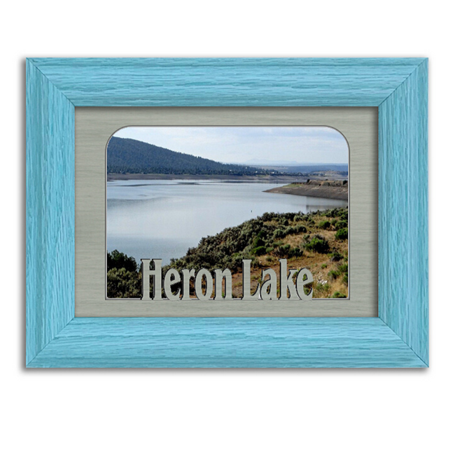 New Mexico Heron Lake Personalized Custom Lake Name Picture Frame 5x7