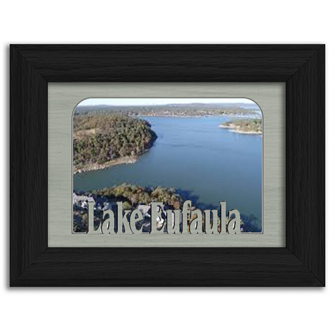 Oklahoma Lake Eufaula Personalized Custom Lake Name Picture Frame 5x7