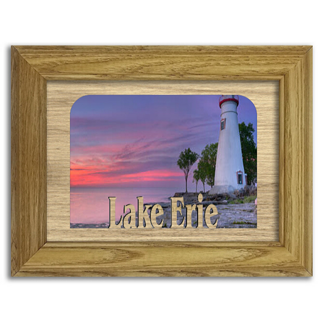 Ohio Erie Lake Personalized Custom Lake Name Picture Frame 5x7