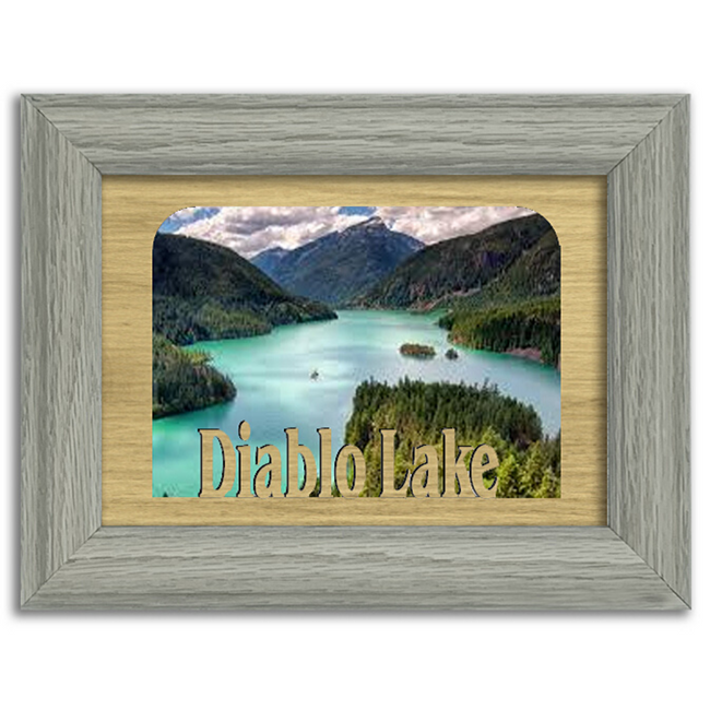 Washington Diablo Lake Personalized Custom Lake Name Picture Frame 5x7