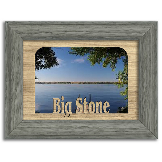 Dakota Big Stone Lake Personalized Custom Lake Name Picture Frame 5x7
