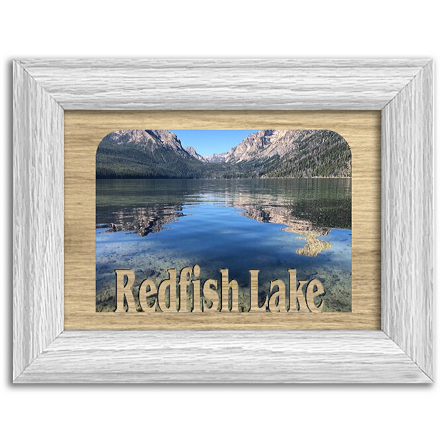 Idaho Redfish Lake Personalized Custom Lake Name Picture Frame 5x7