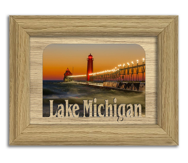Illinois Lake Michigan Lake Personalized Custom Lake Name Picture Frame 5x7