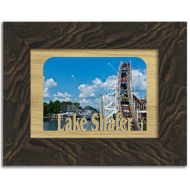 Indiana Lake Shafer Personalized Custom Lake Name Picture Frame 5x7