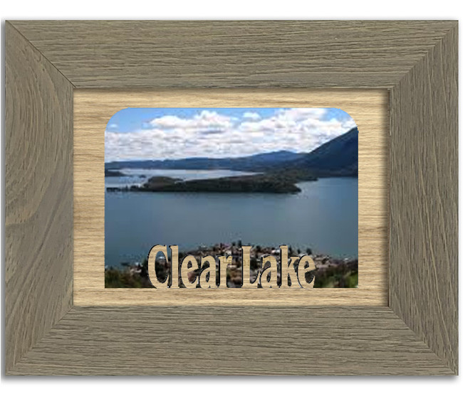 Iowa Clear Lake Personalized Custom Lake Name Picture Frame 5x7