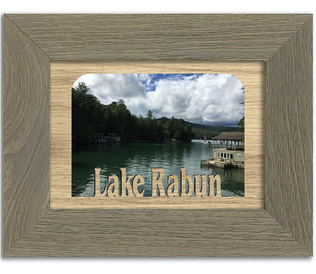 Georgia Lake Rabun Personalized Custom Lake Name Picture Frame 5x7