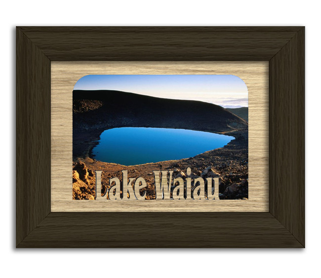 Hawaii Lake Waiau Personalized Custom Lake Name Picture Frame 5x7