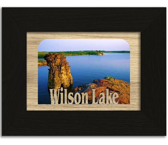 Kansas Wilson Lake Personalized Custom Lake Name Picture Frame 5x7