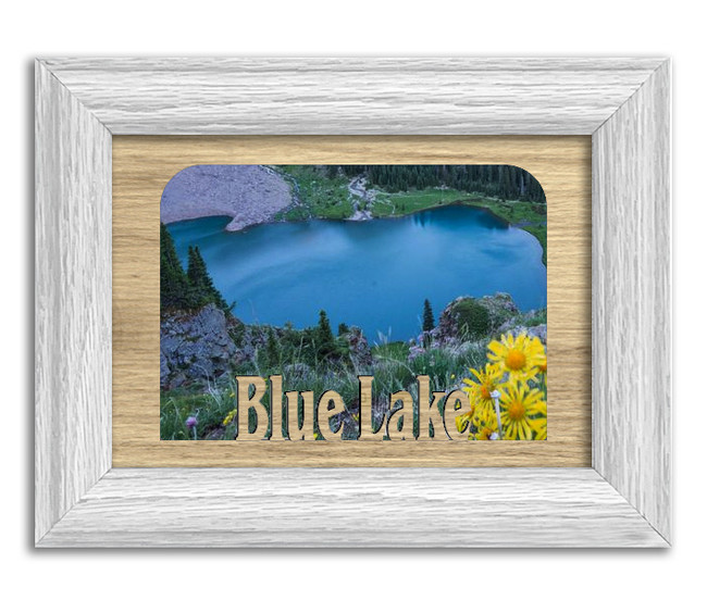 Colorado Blue Lake Personalized Custom Lake Name Picture Frame 5x7
