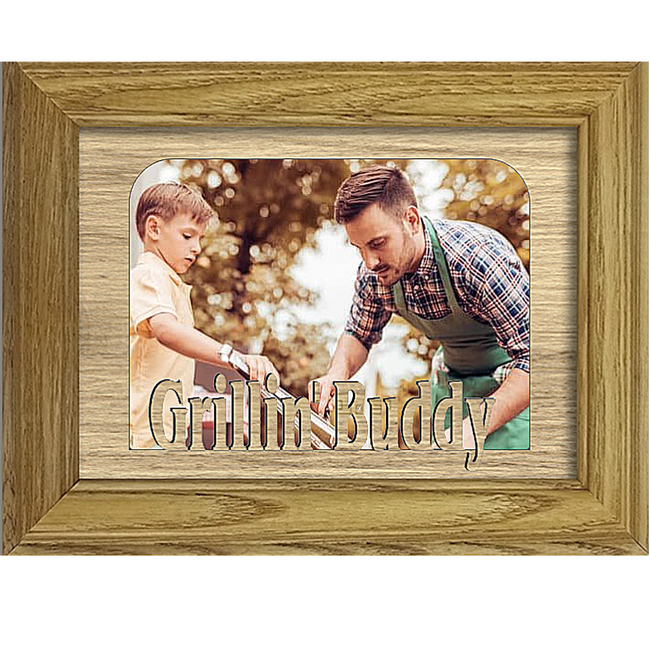 Grillin' Buddy Tabletop Picture Frame - Holds 4x6 Photo - Multiple Color Options