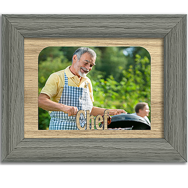 Chef Tabletop Picture Frame - Holds 4x6 Photo - Multiple Color Options