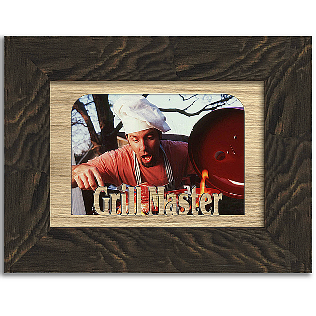 Grill Master Tabletop Picture Frame - Holds 4x6 Photo - Multiple Color Options