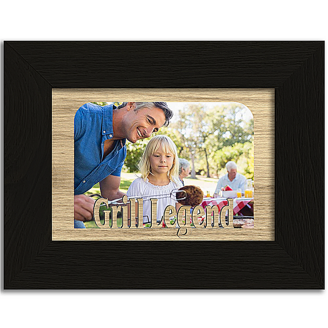 Grill Legend Tabletop Picture Frame - Holds 4x6 Photo - Multiple Color Options