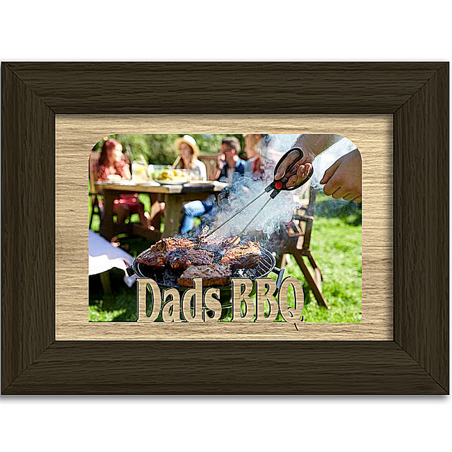 Dads BBQ  Tabletop Picture Frame - Holds 4x6 Photo - Multiple Color Options