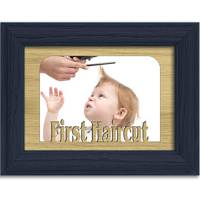 First Haircut Tabletop Picture Frame - Holds 4x6 Photo - Multiple Color Options